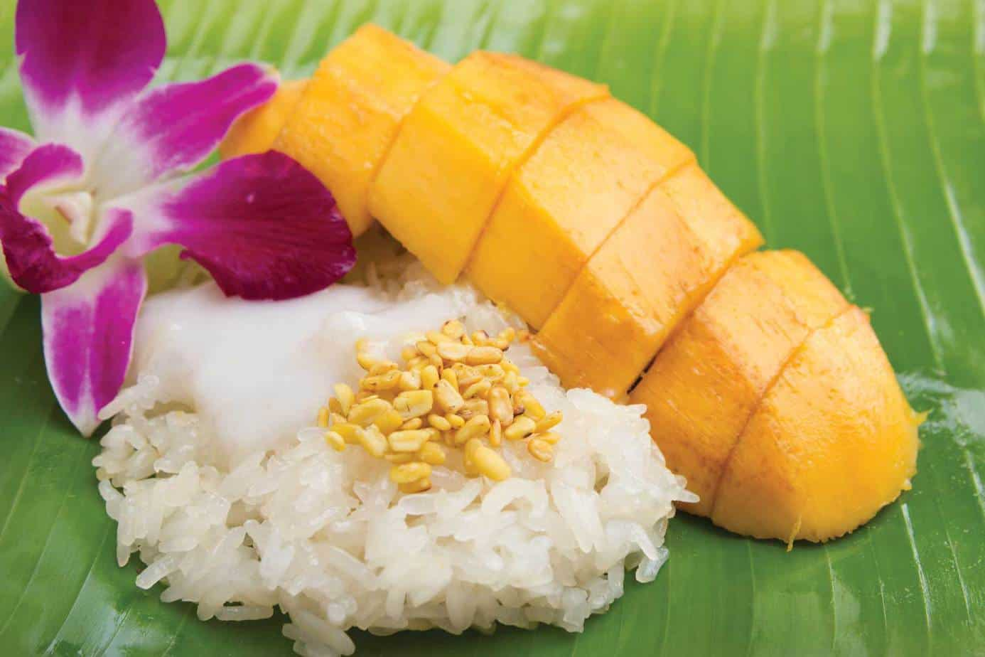 33. Sticky Rice with Mango (Seasonal)
